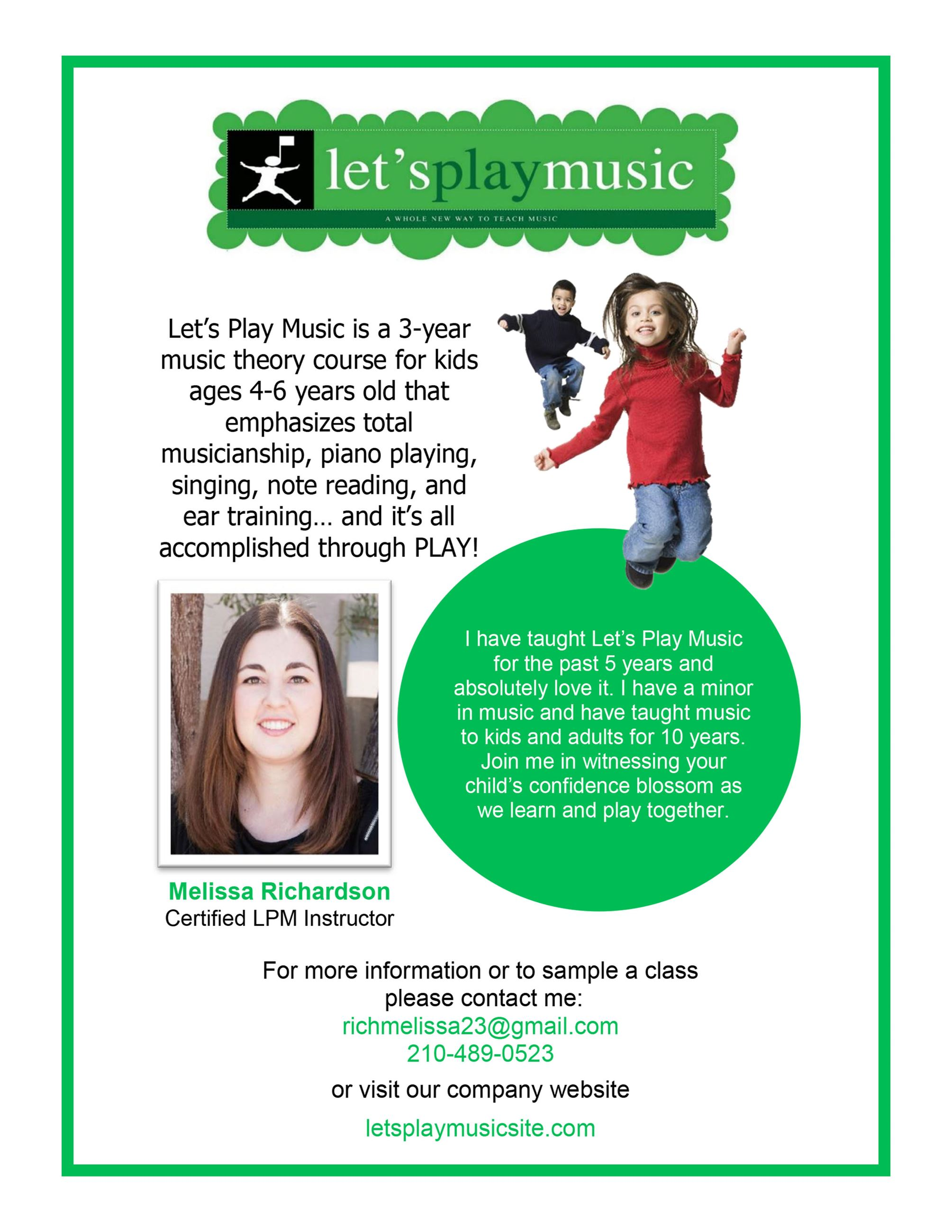 Lets Play Music Flier