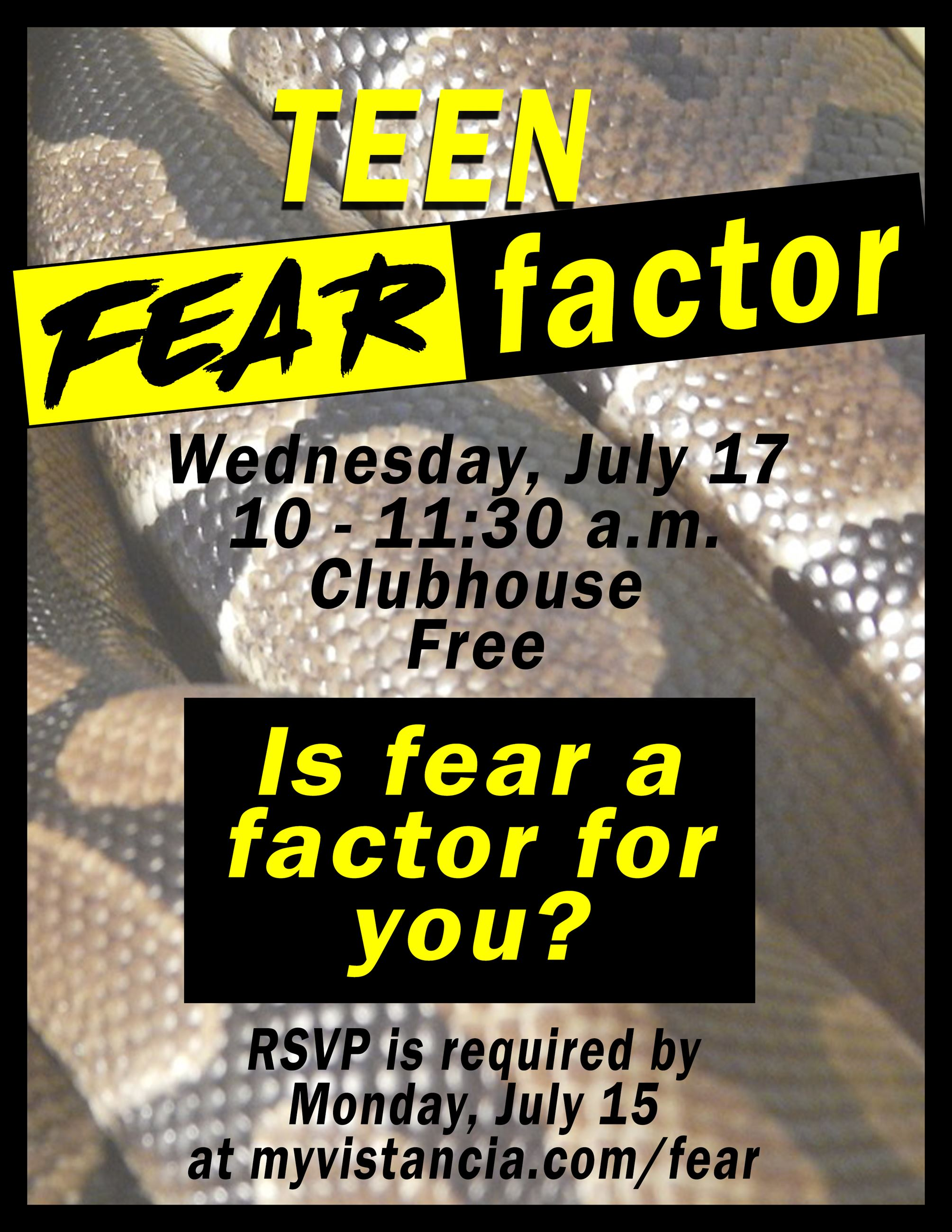 Teen Fear Factor