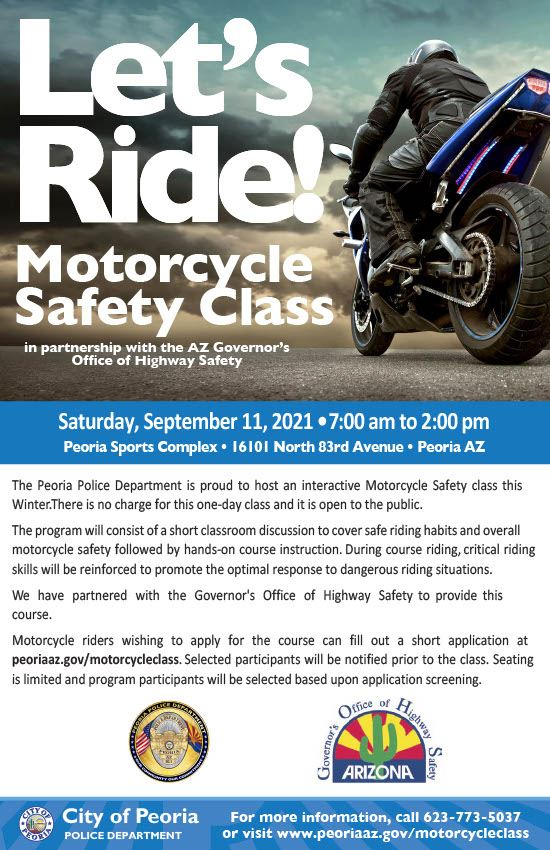 Motorcycle Safety Class - Sept 2021